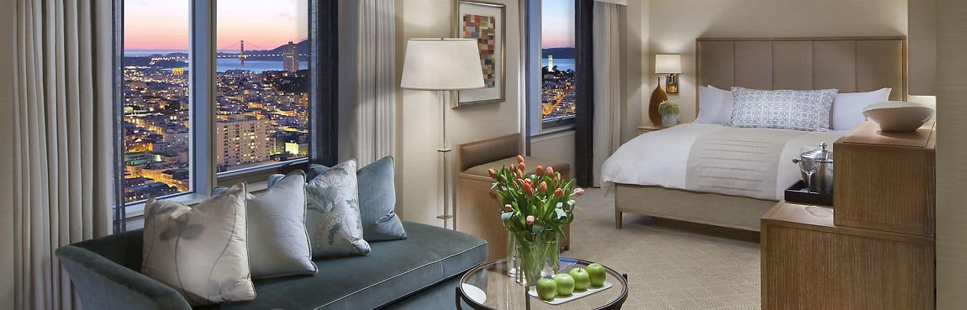 The rooms and suites at the Mandarin Oriental, San Francisco have been designed to provide the utmost comfort and luxury.