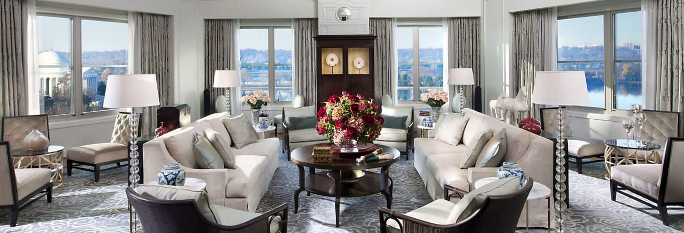 غرفة معيشة Presidential Suite