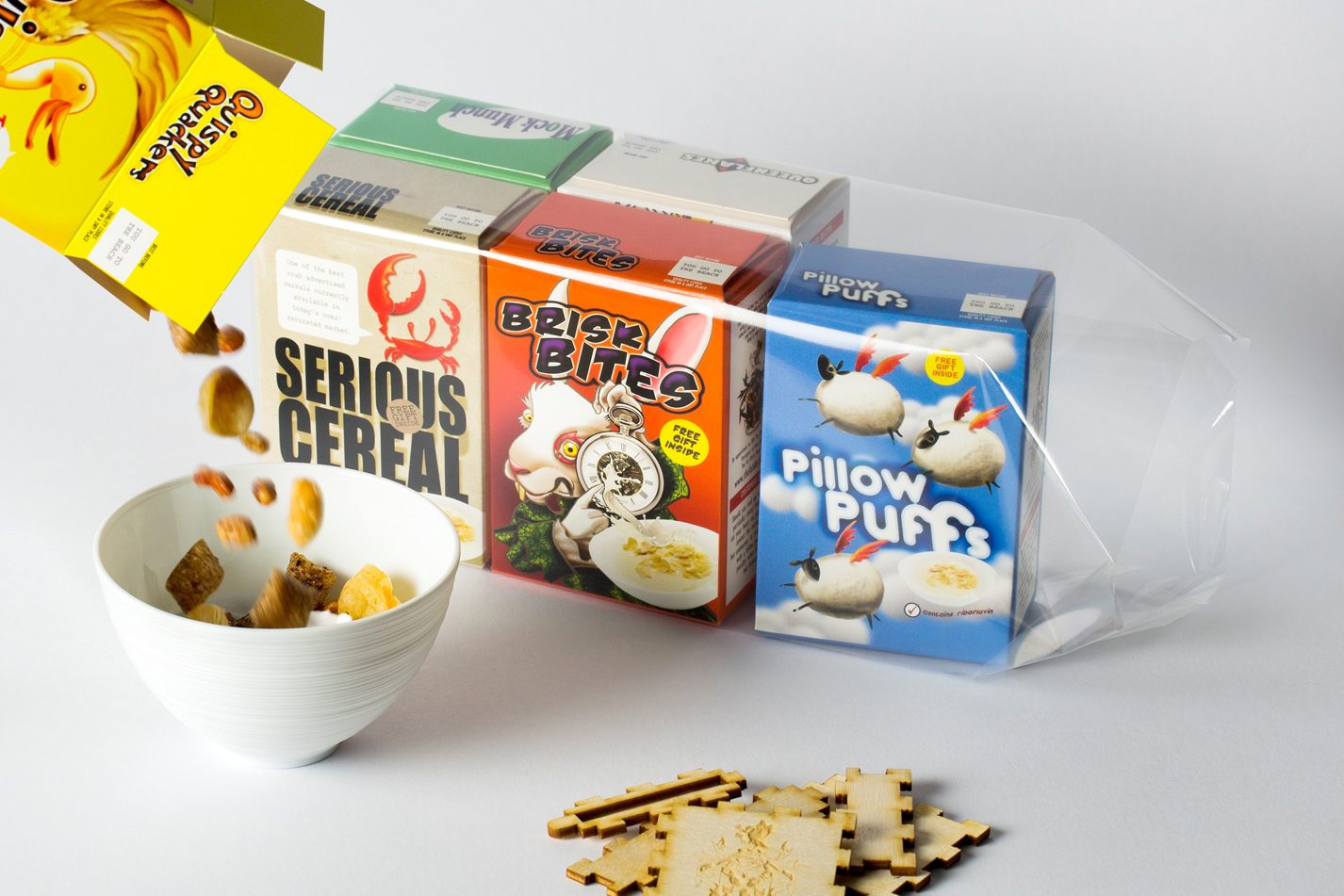A dish at the Fat Duck – mini cereal packets