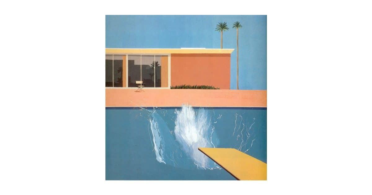 David Hockney Pool Painting