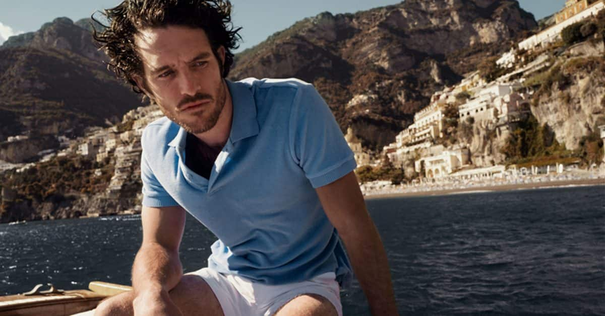 Male model on boat