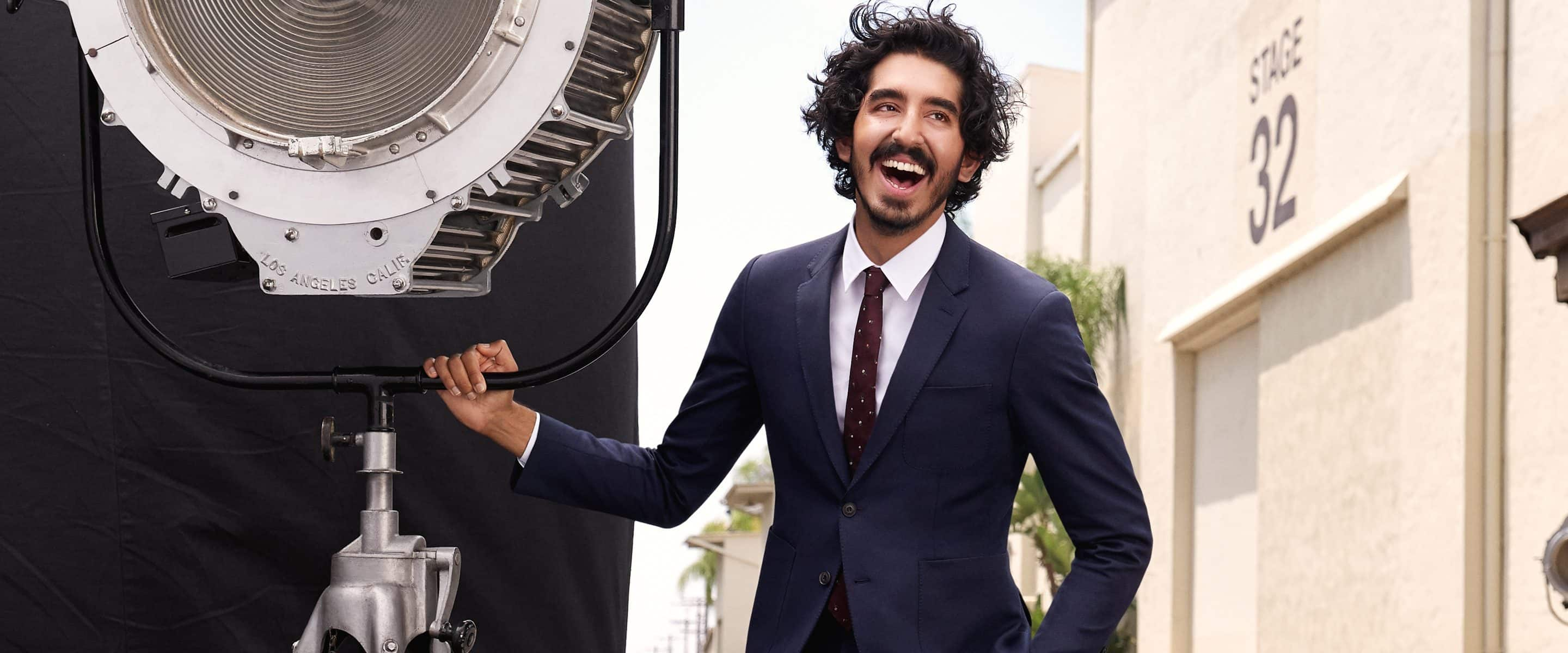 Portrait of Dev Patel on location