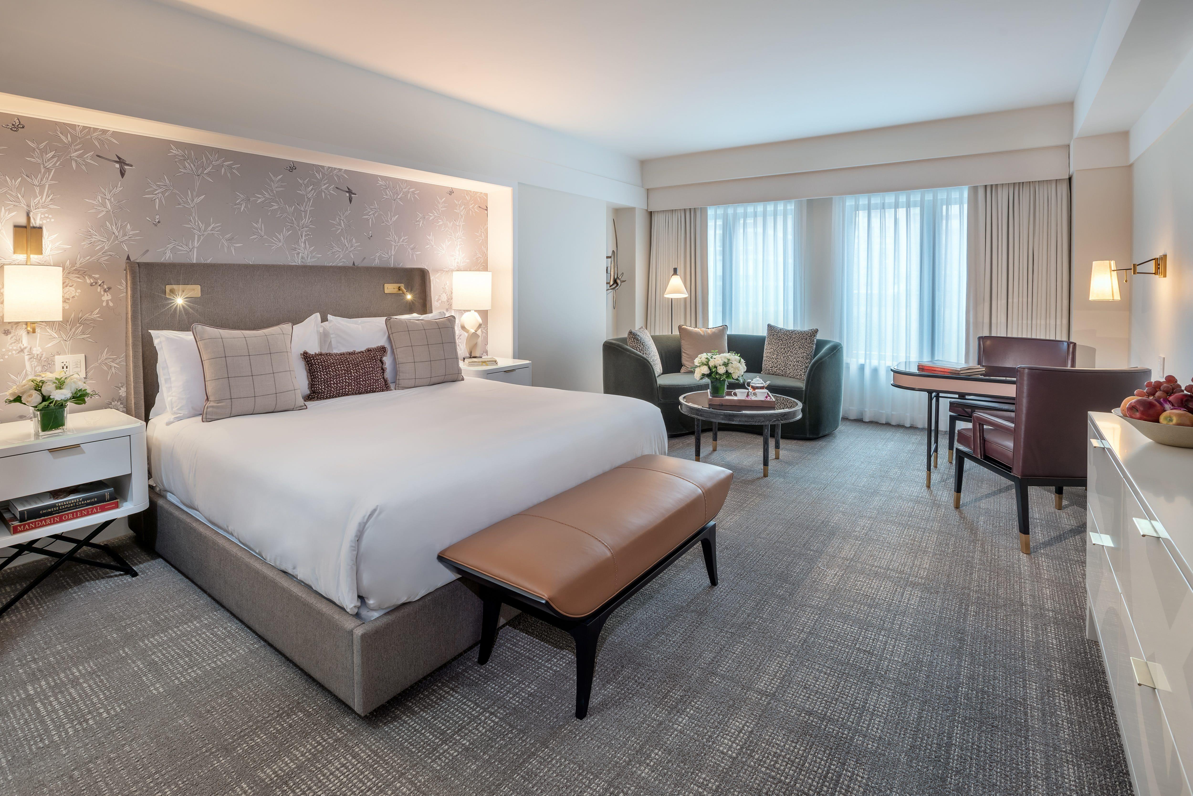 Bed at Mandarin Oriental, Boston