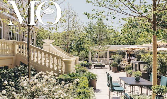 Garden terrace at Mandarin Oriental Ritz, Madrid