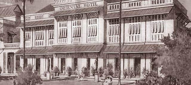 historica photo of mandarin oriental, bangkok exterior