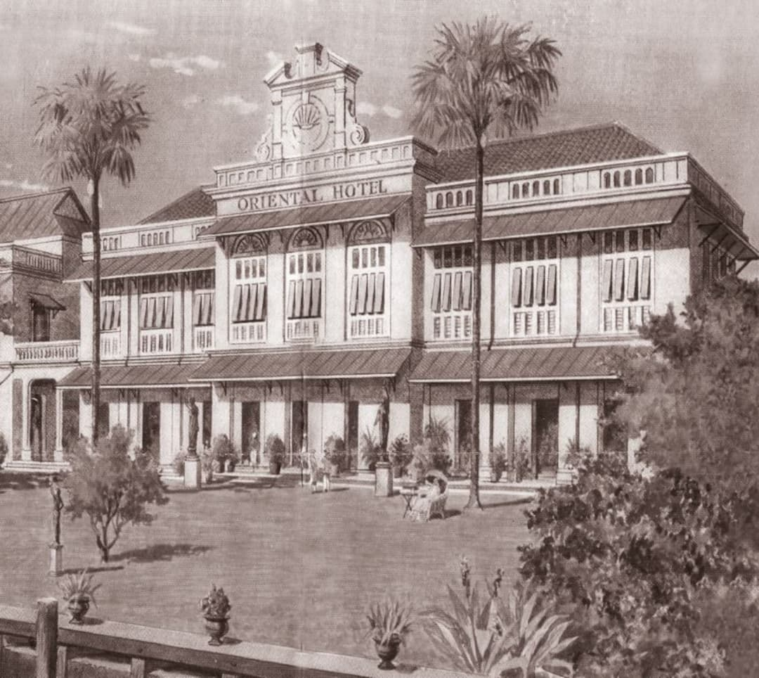 historical photo of hotel exterior for 140th anniversary