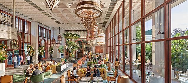 hotel lobby at mandarin oriental, bangkok