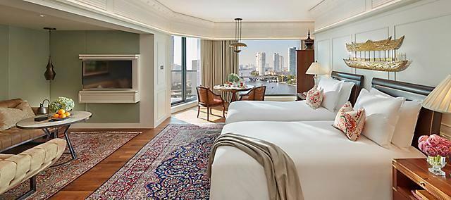 selinda suite - twin beds at mandarin oriental, bangkok