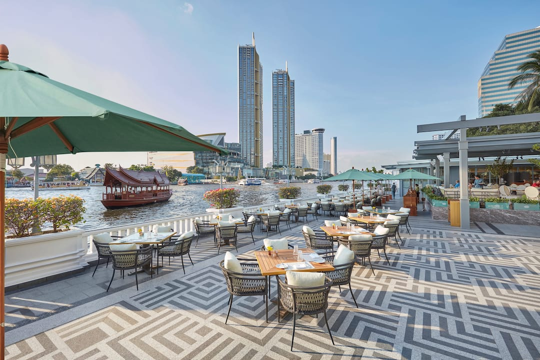 the verandah terrace at mandarin oriental, bangkok
