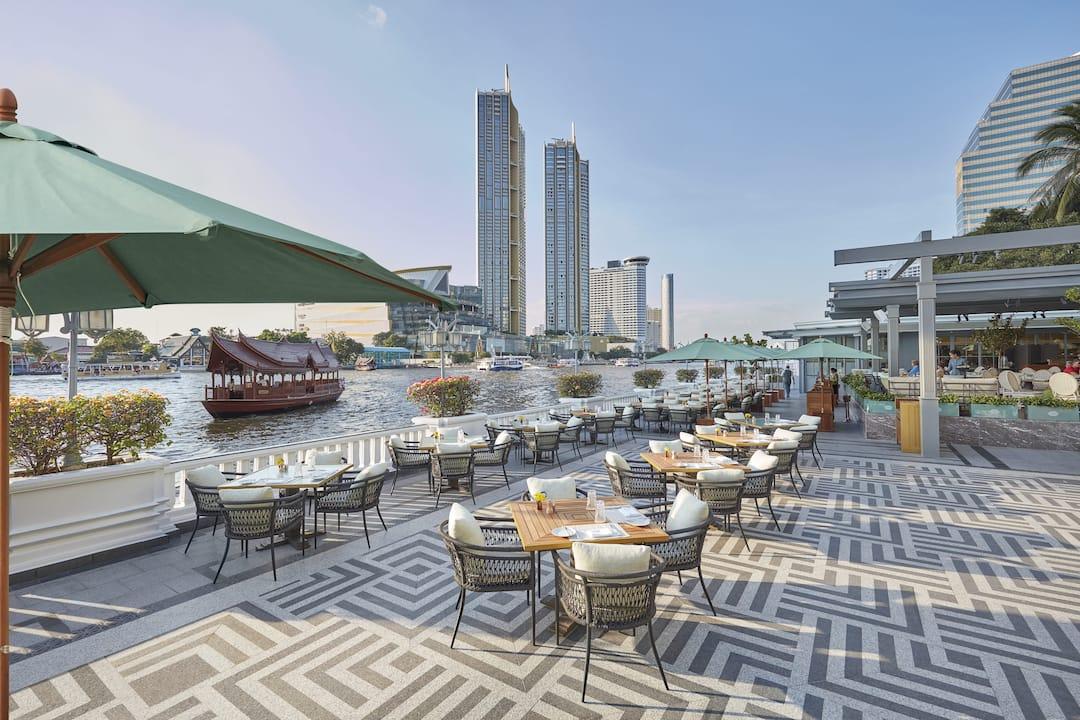 the verandah terrace at mandarin oriental, bangkok