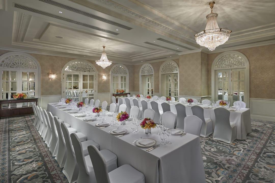 regency room - dinner set up at mandarin oriental, bangkok