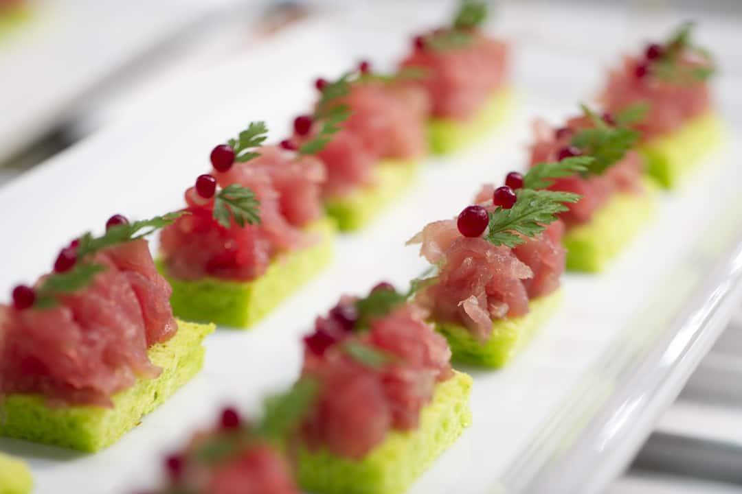 tuna tartare by catering team at mandariin oriental, geneva