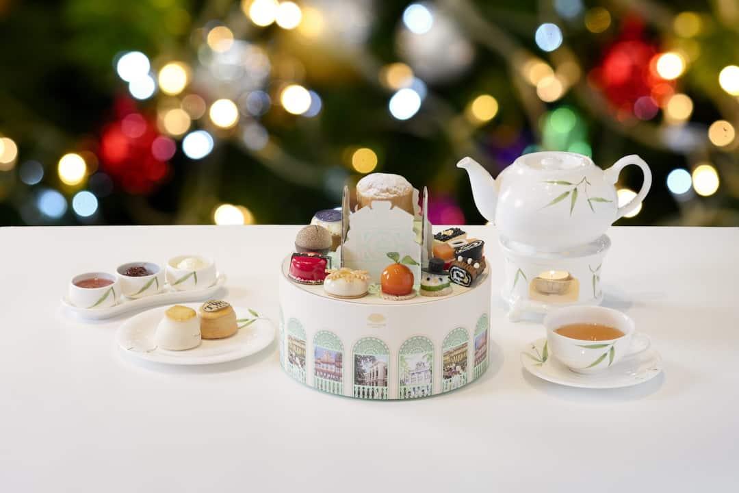 festive tea set from the authors lounge at mandarin oriental, bangkok