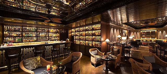 interior view of the bamboo bar at mandarin oriental, bangkok