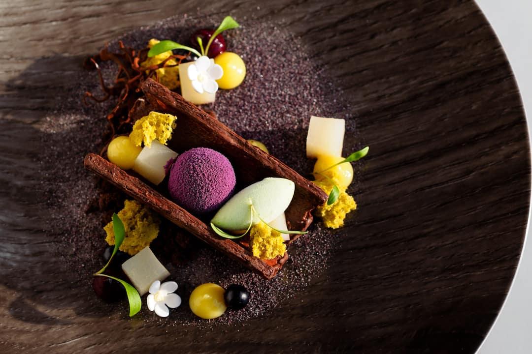 dessert with flowers