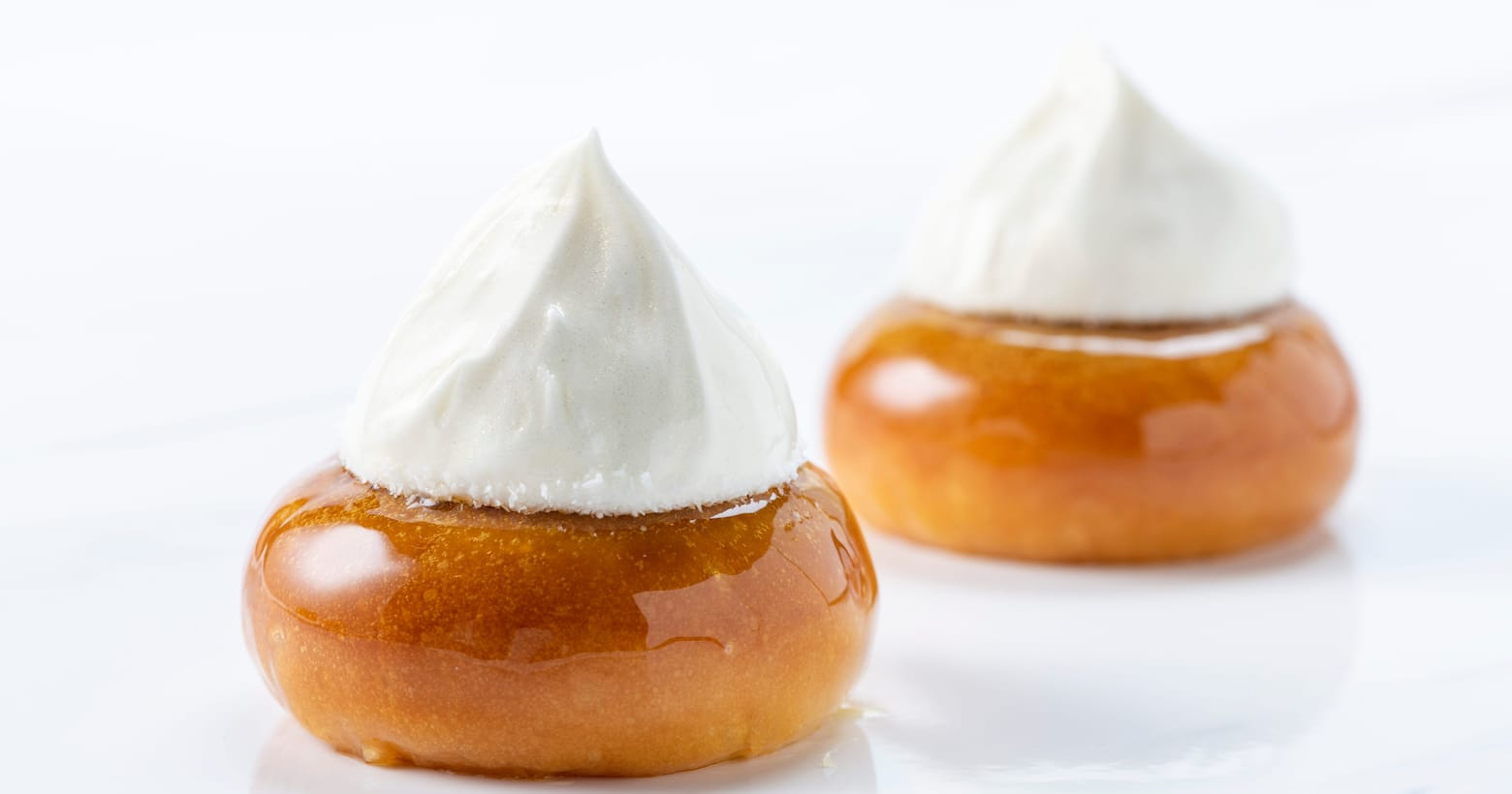 baked pastries with whipped cream
