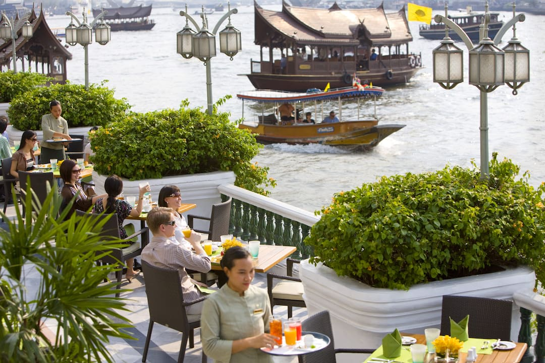 The verandah restaurants on the chao phraya river for Terrace 45 menu