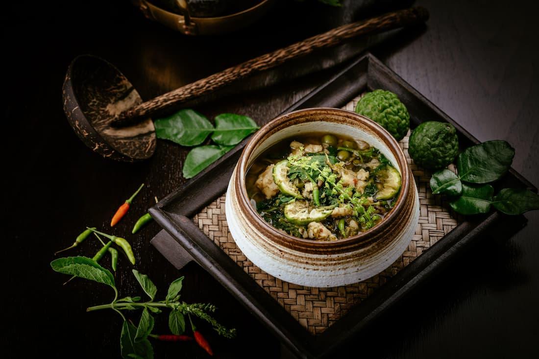 Aromatic garoupa fish curry