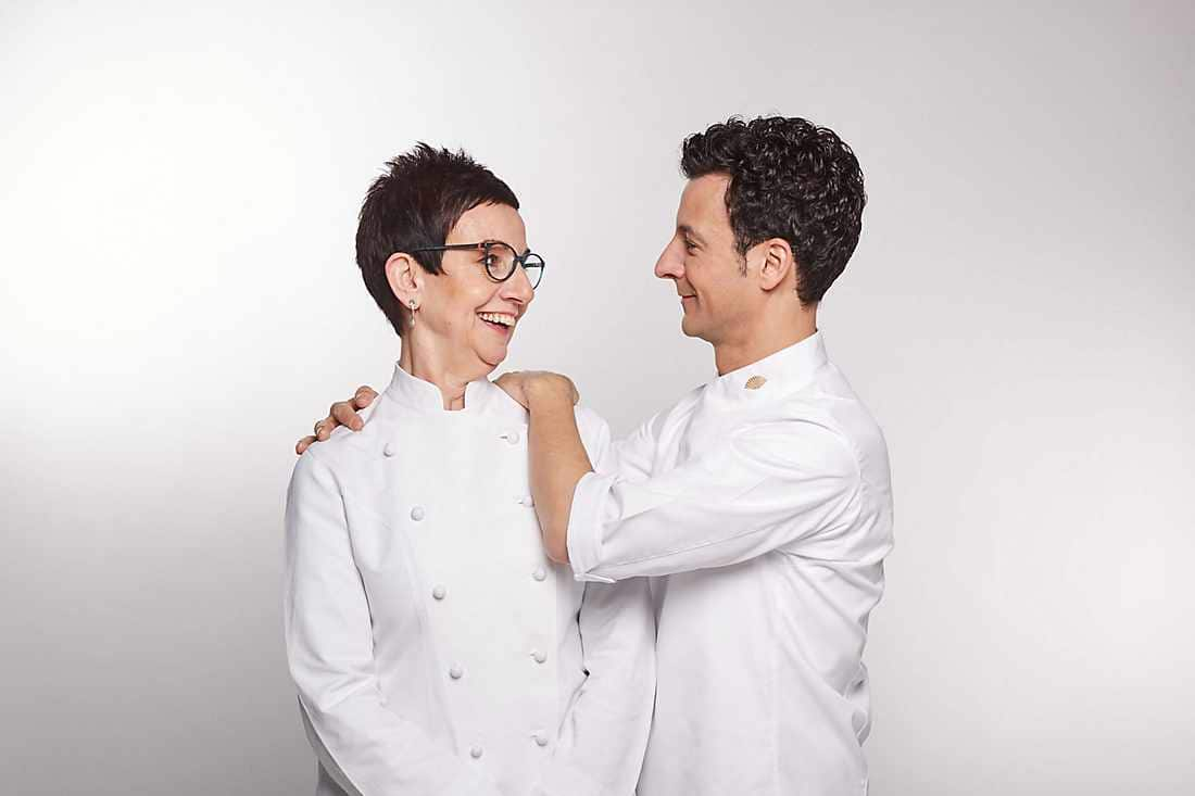 chef with her son