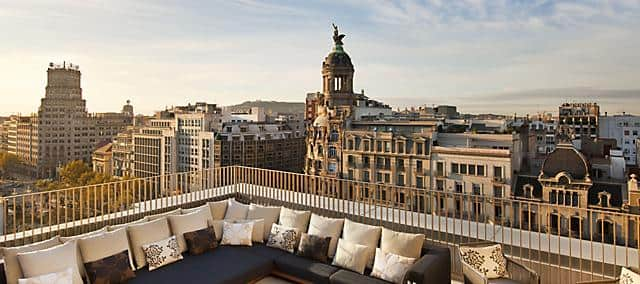 View of Barcelona from the Penthouse Suite Terrace at Mandarin Oriental, Barcelona