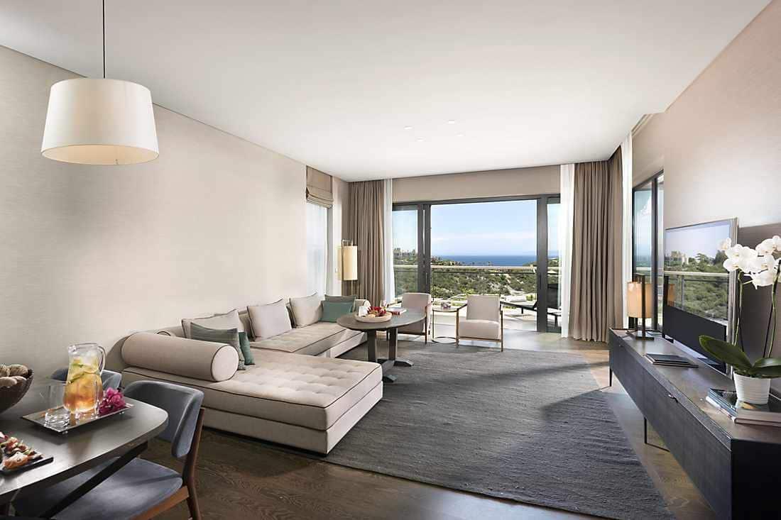 Three Bedroom Sea View Apartment living room