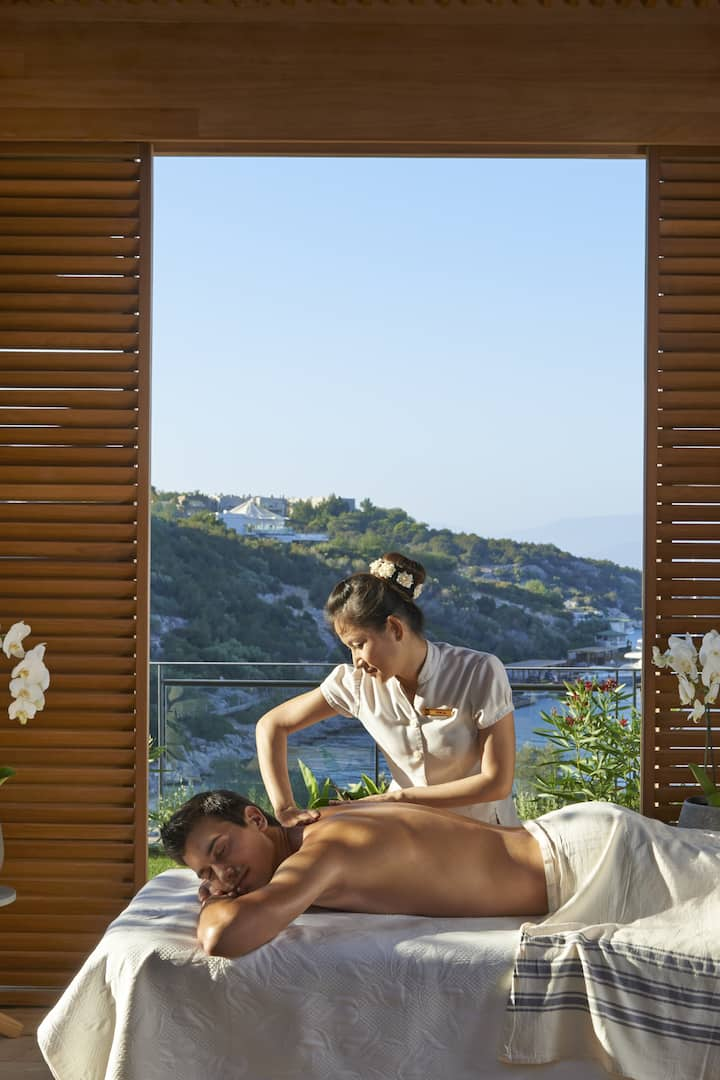 Luxury spa cabana treatment Mandarin Oriental, Bodrum