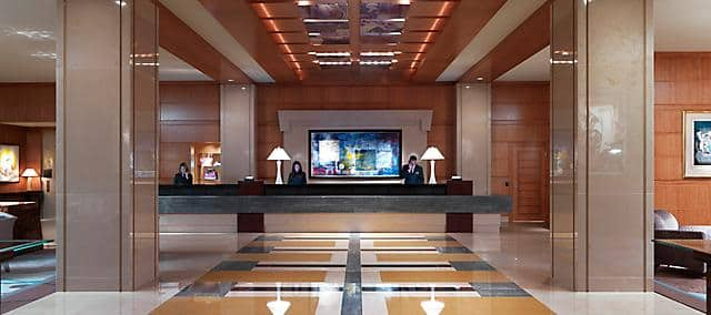 Lobby of Mandarin Oriental Boston