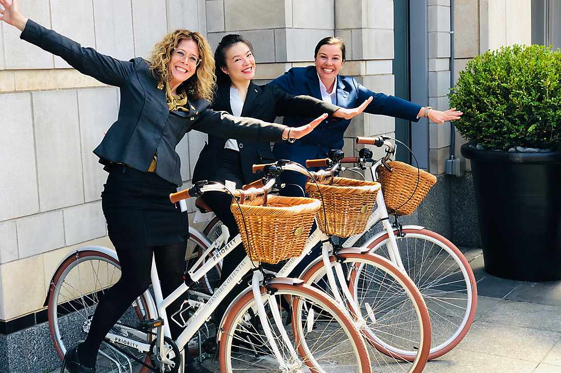 guests riding bike