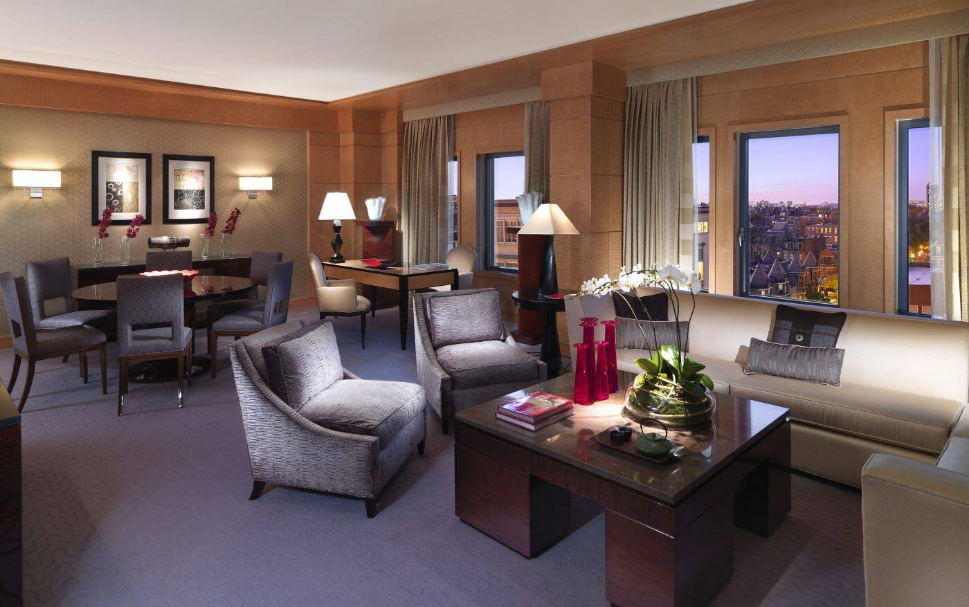 Living Room Boston Luxury Accommodations In Back Bay  Mandarin Oriental Boston