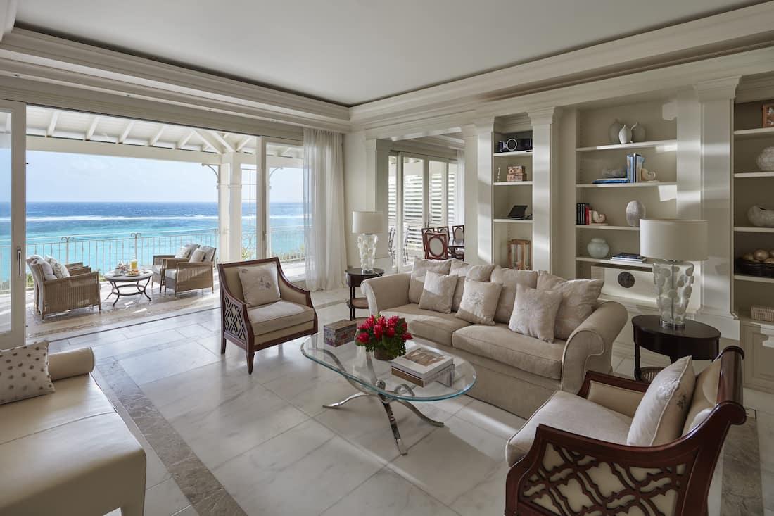 lagoon villa living room