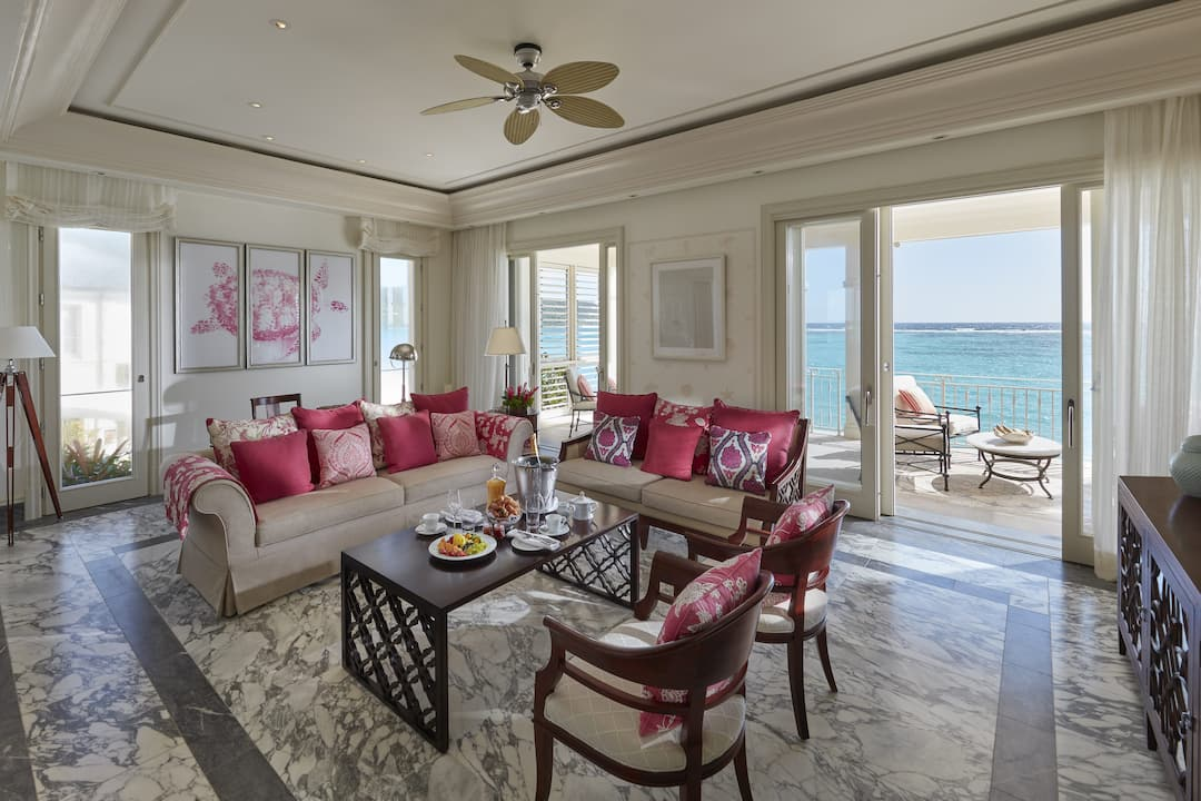 Oceanview Penthouse Living Room