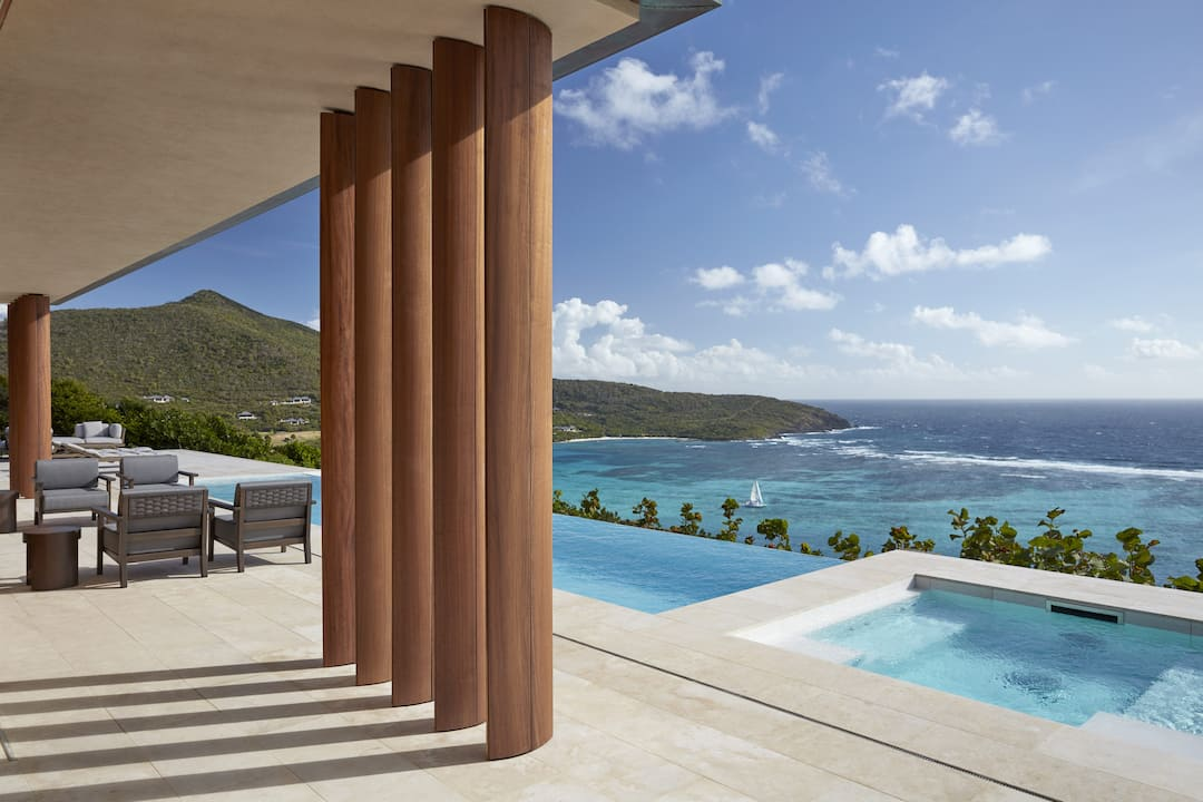 villa patio with pool