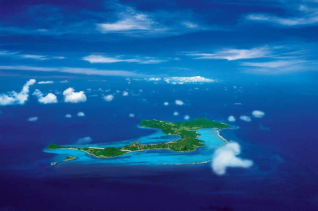 Canouan Island from the Air