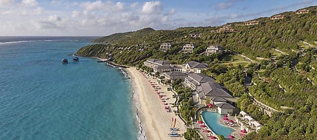 luxury 5 star hotel pink sand beach mandarin oriental canouan