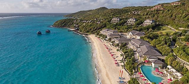 canouan hotel beach aerial
