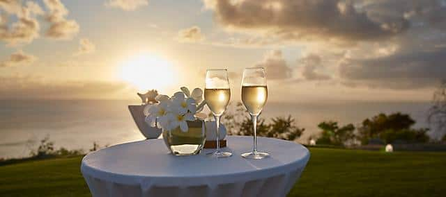 banquet at sunset