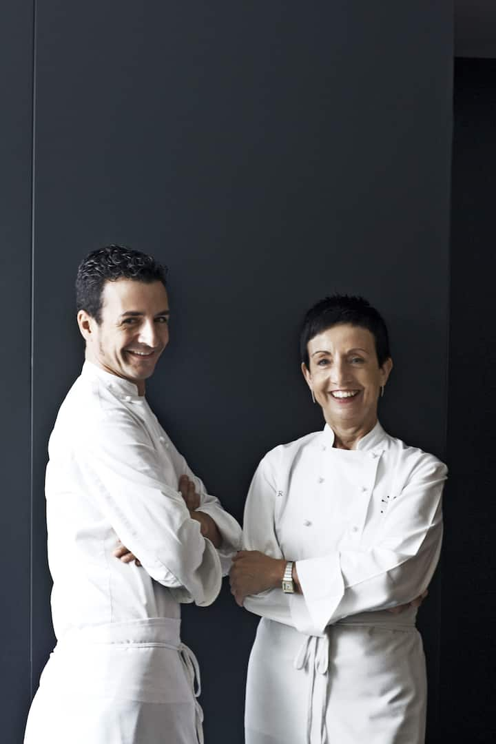 Two of the chefs from Moments
