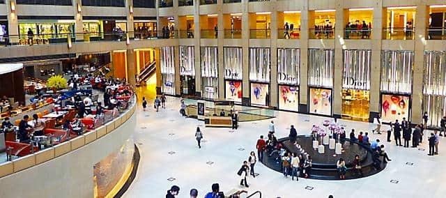 shopping mall near mandarin oriental, hong kong