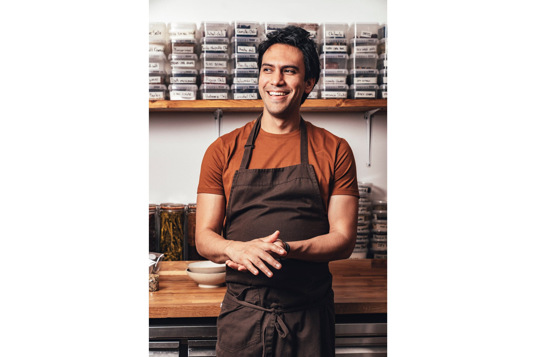 Portrait of chef Santiago Lastra at Kol, London