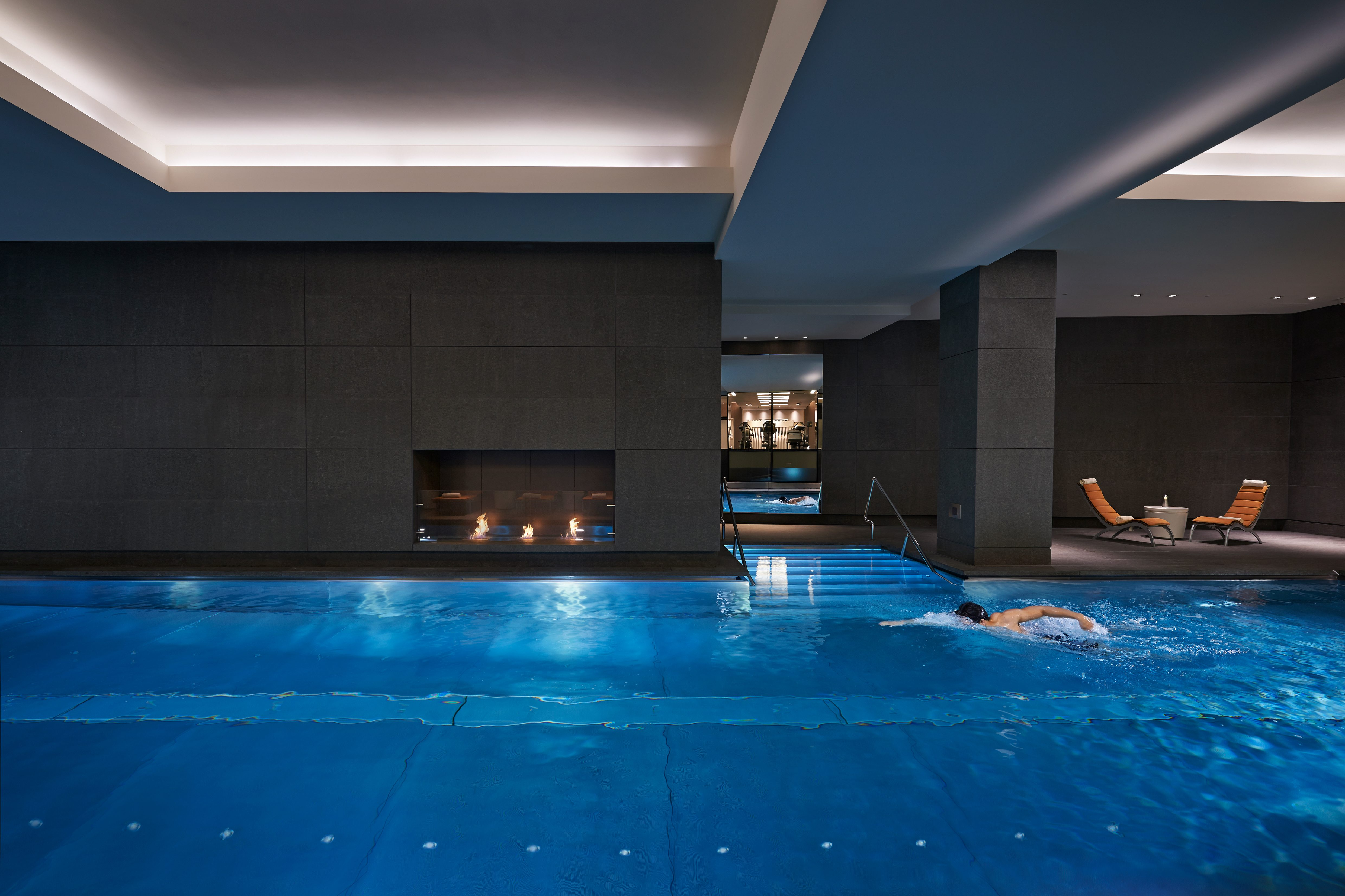 Swimming pool at Mandarin Oriental Hyde Park, London