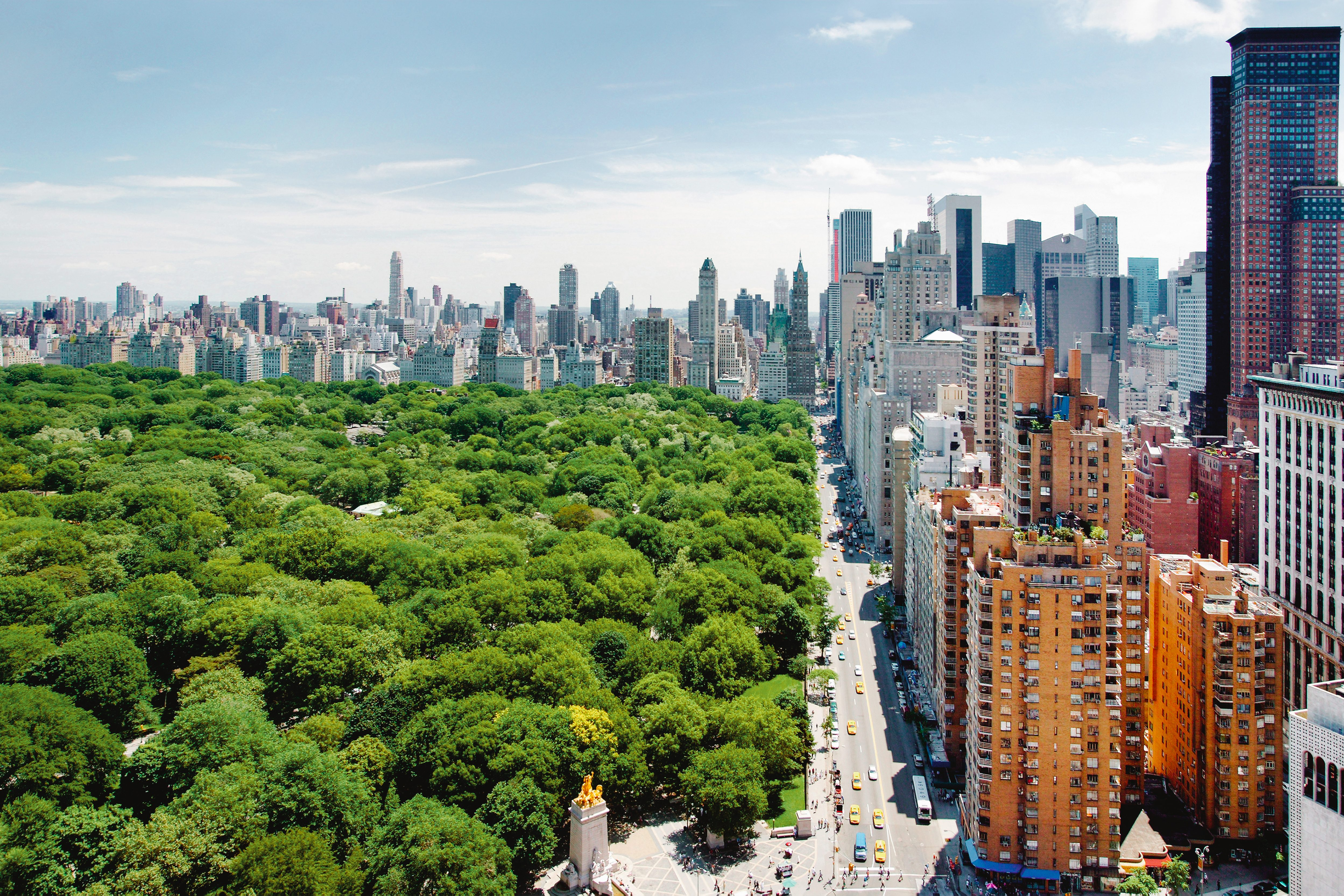 View over New York and Central Park from Mandarin Oriental, New York