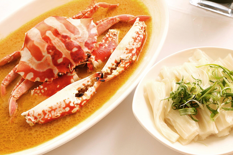 The flower crab dish at The Chairman, Hong Kong
