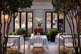 Terrace view of Seta at Mandarin Oriental, Milan
