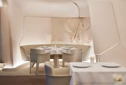White interior of Sur Mesure Par Thierry Marx