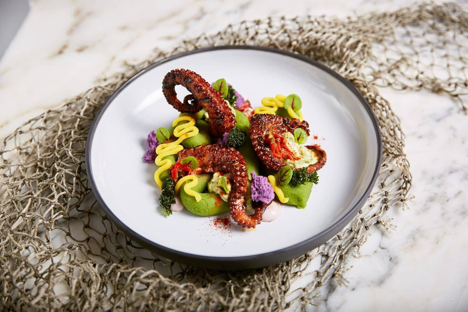 Octopus dish at La Mar by Gastón Acurio