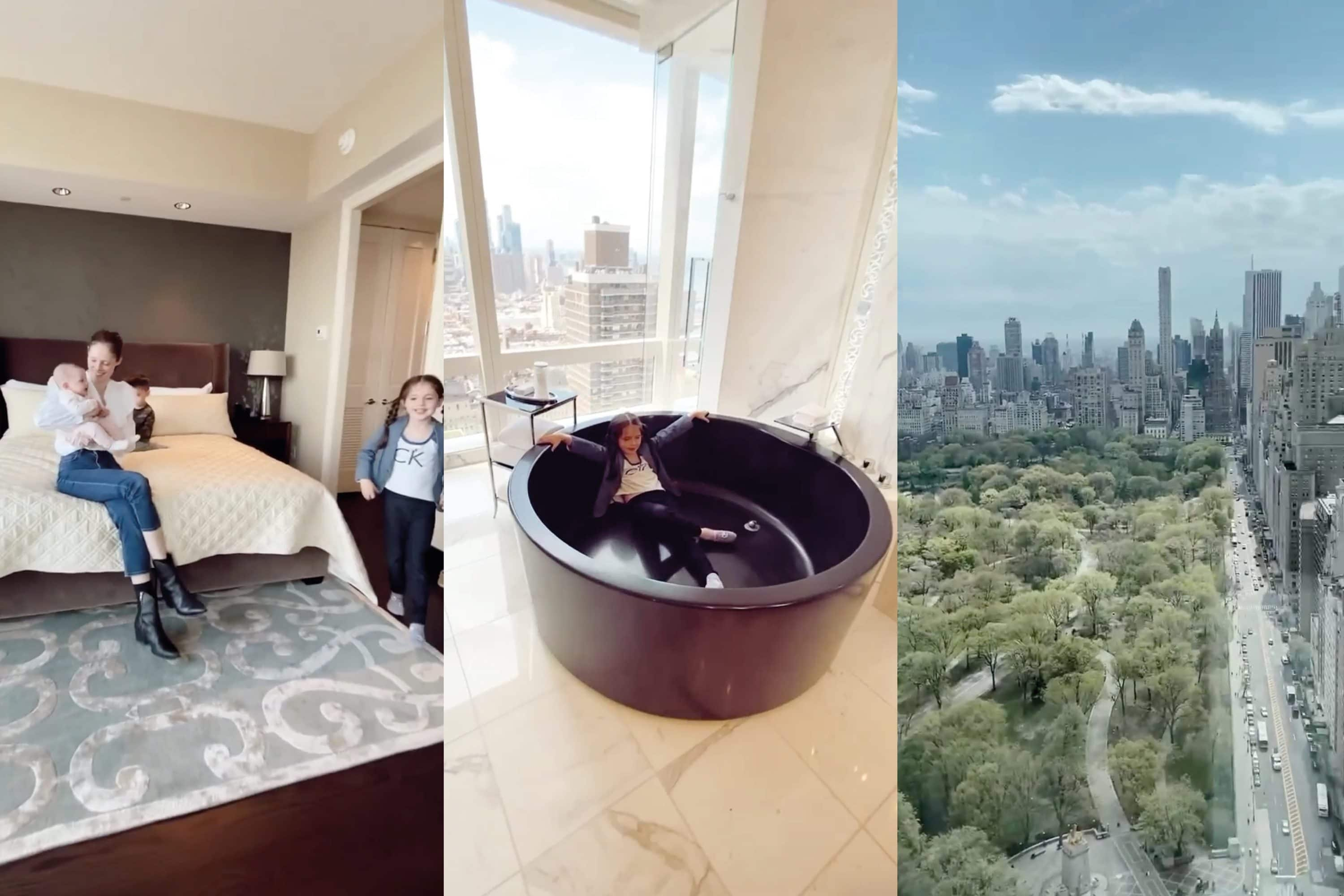 Bedroom, bathroom and view from Suite 5000