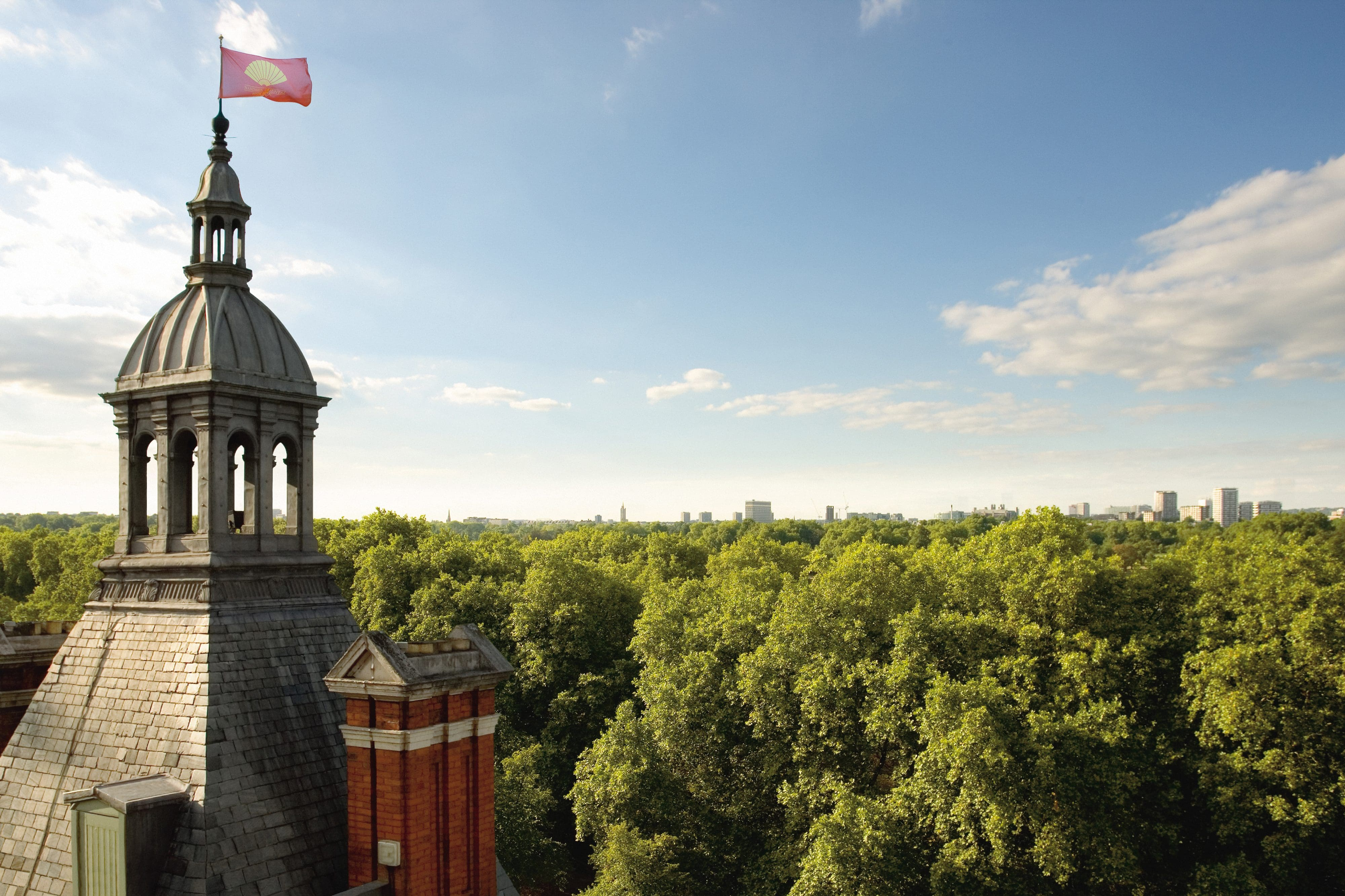 View from the roof of Mandarin Oriental Hyde Park London