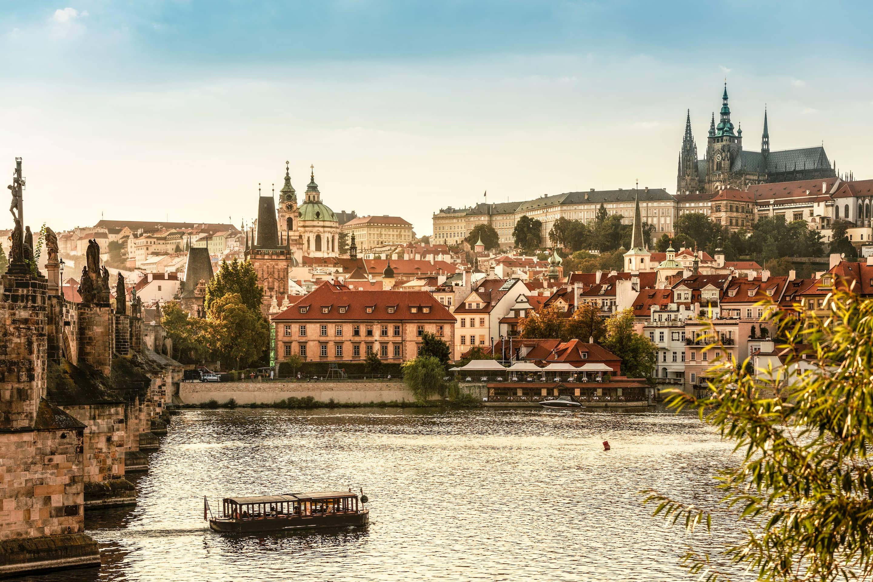 View of the river in Prague