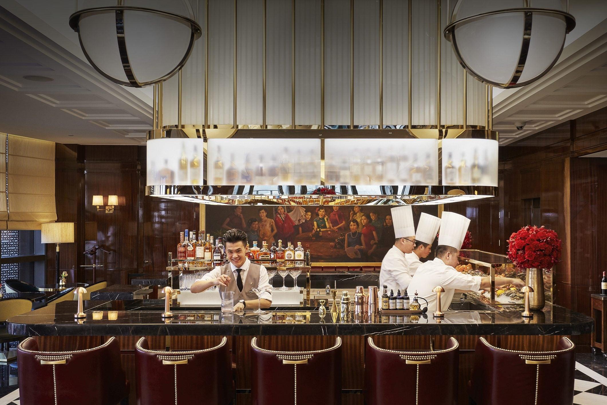 The beautiful bar at Mandarin Oriental, Hong Kong