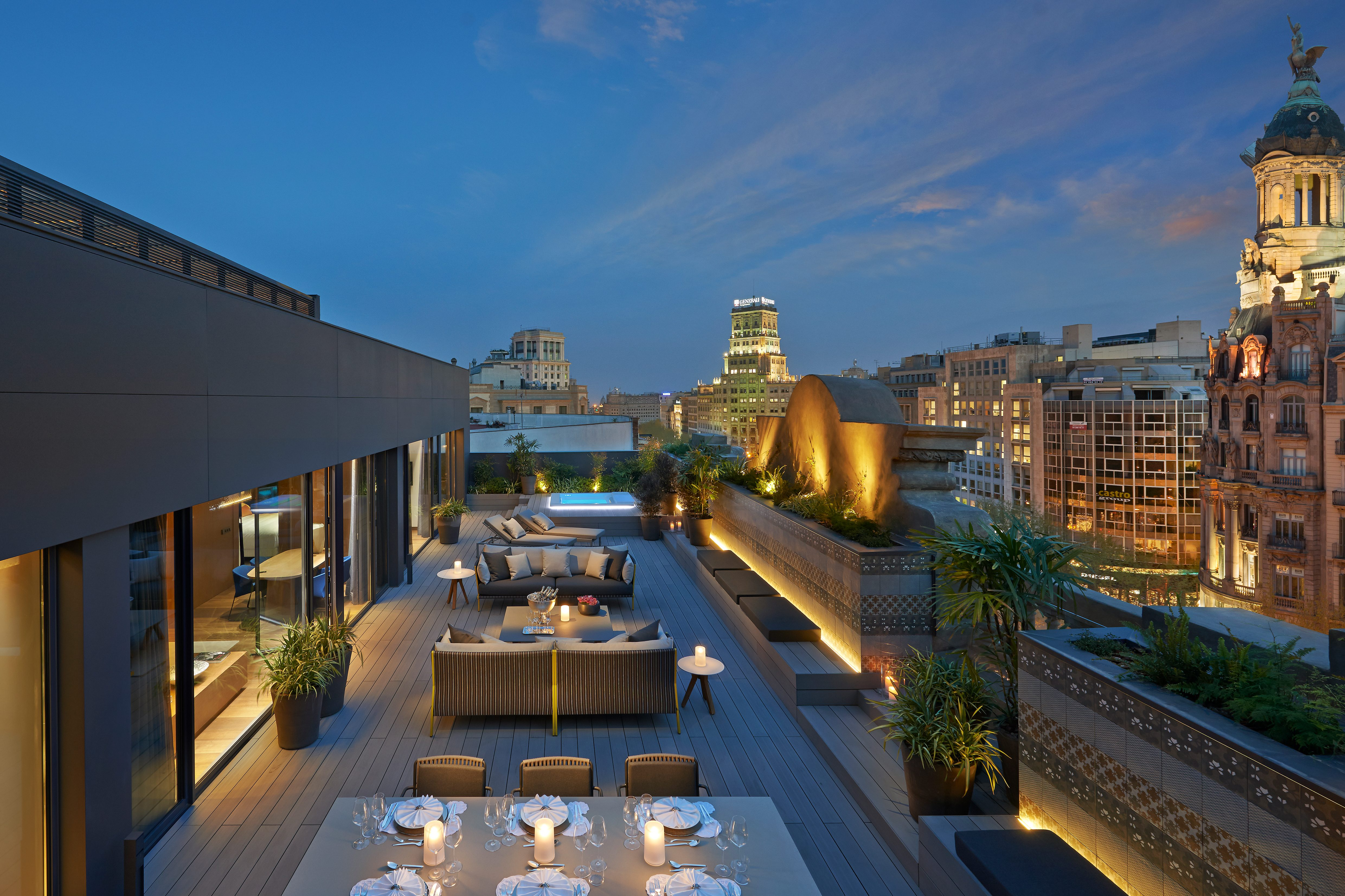 Suite terrace at Mandarin Oriental, Barcelona